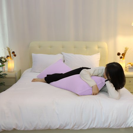 Zippered Body Pillow Case Cover Soft Microfiber Long Pillowcases Violet 20x48 - image 3 of 8