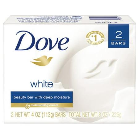 Dove White Beauty Bar, 4 oz, 2 Bar ()