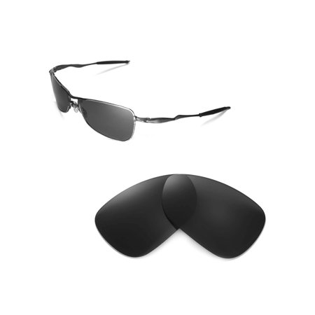 Crosshair Polarized Sunglasses (Walleva Black Polarized Replacement Lenses for Oakley Crosshair 1.0 (2005-2006 version))
