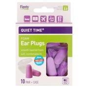 Flents Plugs Quiet Time Comfort Foam Ear Plug, 20 Ct