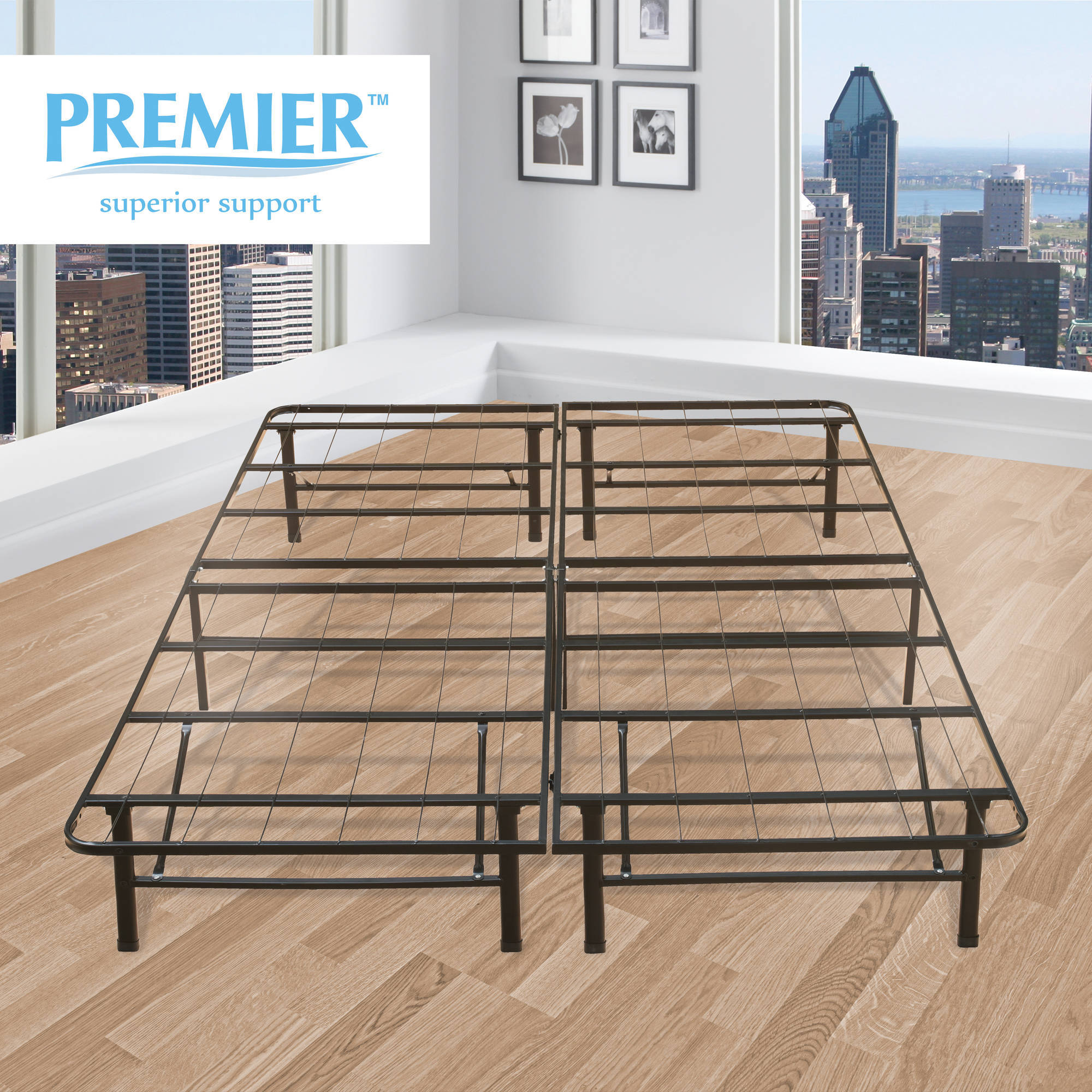 premier platform 14 metal base foundation bed frame multiple sizes