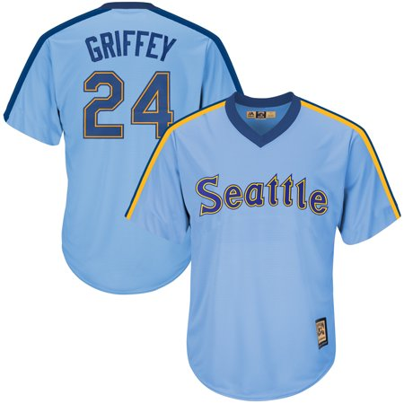 Seattle Mariners Authentic Alternate Jersey (Ken Griffey Jr. Seattle Mariners Majestic Cooperstown Collection Cool Base Player Jersey - Light Blue)