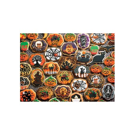Cobble Hill Halloween Cookies 350 Family Pieces  Puzzle - Halloween Cookies Games