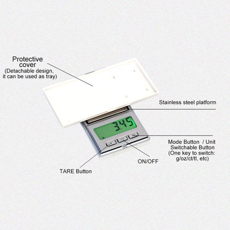 200g/0.01g High Accuracy Electronic Balance Pocket Scale Mini LCD Digital Jewelry Scales Weighing Tool - image 7 of 7