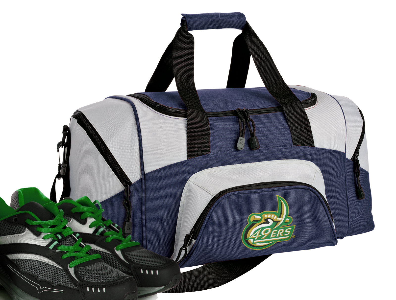 Small UNC Charlotte Duffle Bag or Small UNCC Gym Bags by