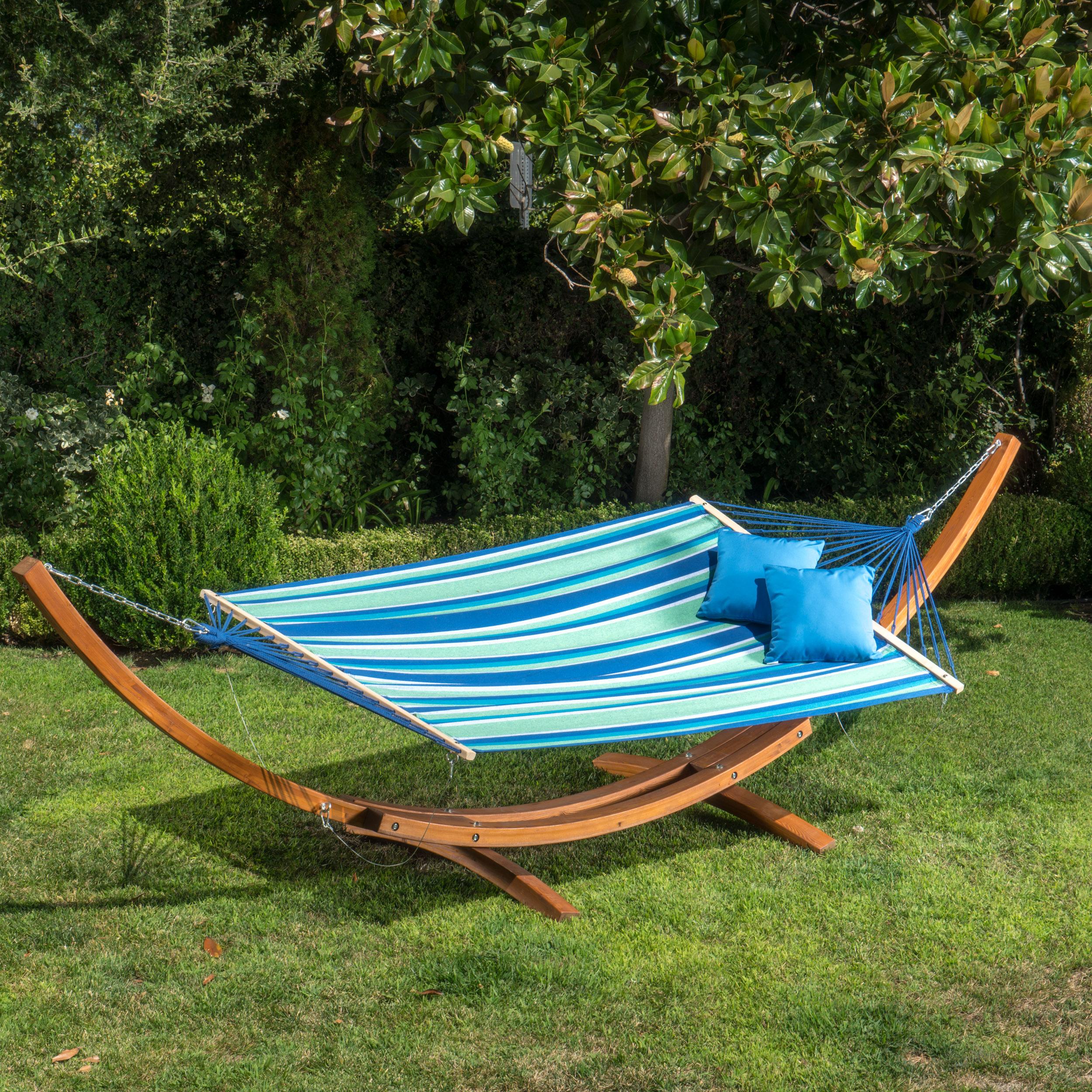 Aniston Outdoor Sunbrella Hammock Fabric (FABRIC ONLY), Blue Green White Stripe