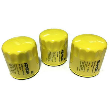 3 Pack Genuine 52 050 02S 5205002S Kohler Professional Grade Oil Filter