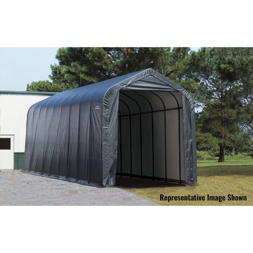 ShelterLogic 14' x 20' x 12' Peak Style Shelter, Gray