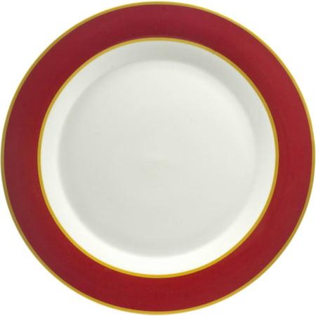 10 Strawberry Street Xena Dinner Plate, Set of 4