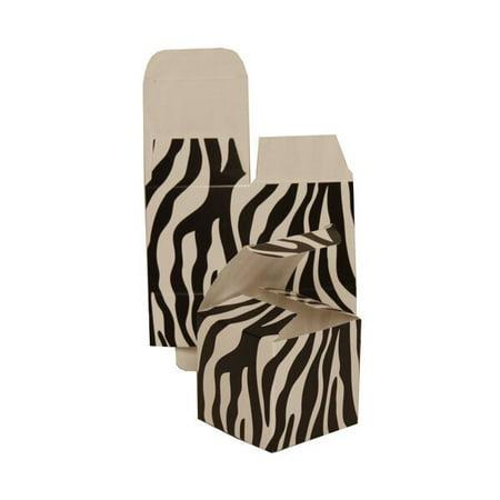 Jam Paper Gift Boxes 2 X 2 X 2 Black White Zebra 10 Pack