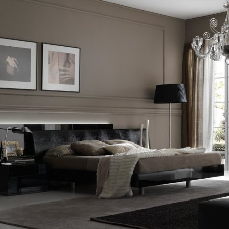Impressive Rossetto Nightfly Black Platform Bed Recommended Item