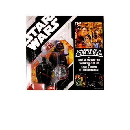 Star Wars 30th Anniversary Coin - Star Wars: 30th Anniversary Collection Wave 1 Darth Vader (#1) With Coin Album Action Figure