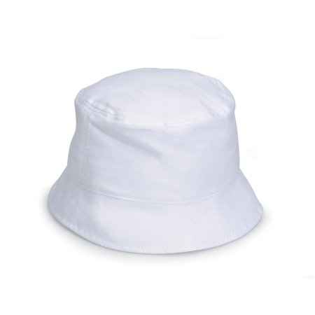 White Bucket Hat for Fabric Crafts: Cotton Canvas, Adult Size - White Bucket Hats