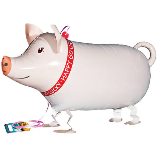 10 Pack 11 Farm Animal Cow Pig Sheep Horse Latex Balloons with Matching Ribbons Generic