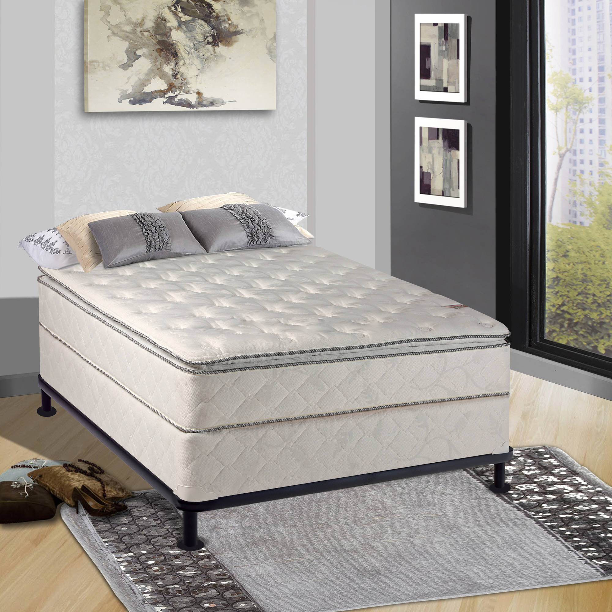 continental sleep 10 fully assembled pillow top innerspring