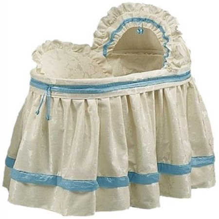 babydoll bedding baby king brocade bassinet bedding set blue - Bassinet Bedding