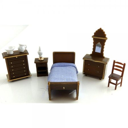 Dollhouse Minaiture 1 48 Scale Plastic Bedroom Furniture Set Suite