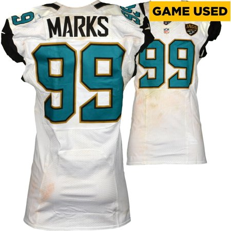 low priced e446c 5ff83 Sen'Derrick Marks Jacksonville Jaguars Game-Used #99 White Jersey vs.  Chicago Bears on October 16, 2016 - Fanatics Authentic Certified