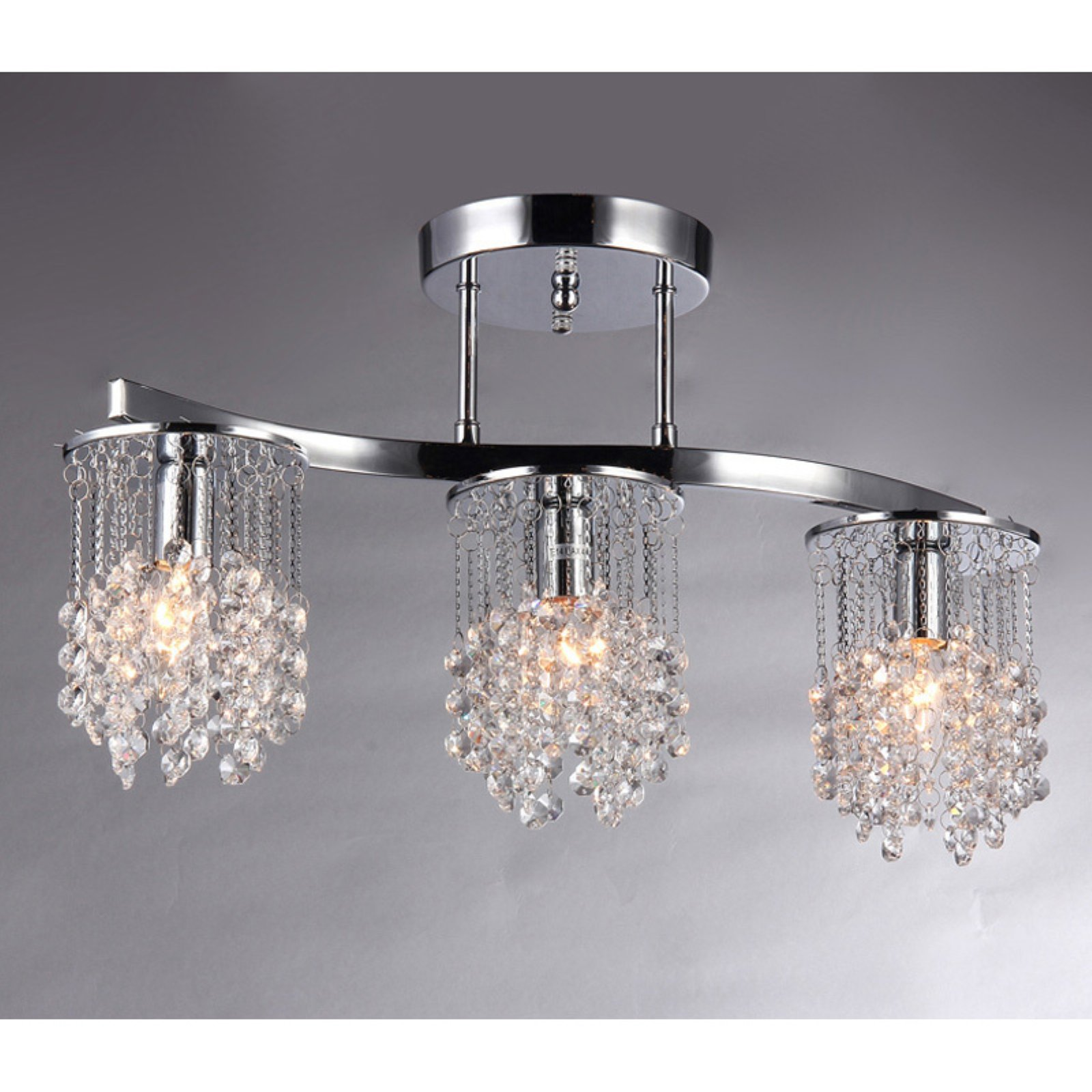 Warehouse of Tiffany Clee Chrome Crystal Chandelier by Supplier Generic
