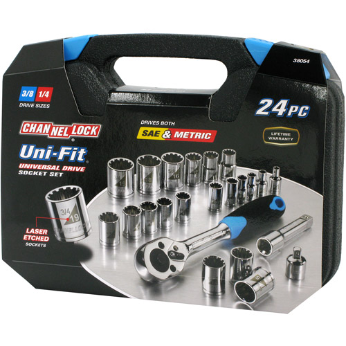 24Pc. Uni-Fit Socket Set