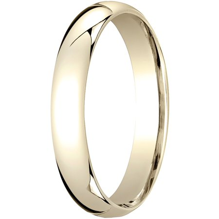Mens 14K Yellow Gold, 4mm Slim Profile Comfort-Fit Wedding Band