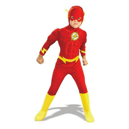 Costumes For All Occasions Ru82308Lg Flash Deluxe Musc Child Lg