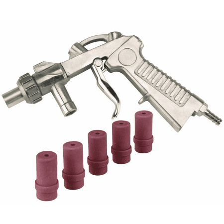 Dragway Tools Blast Media Gun & (5) 4MM Nozzles for 25 60 90 Sandblast  Cabinet