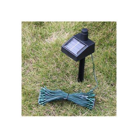 55ft 100 led connectable solar string fairy lights blue w/ ac/dc adaptor -  walmart com