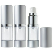 Airless Spray Bottle Refillable Travel Container - 10 ml / 0.34 oz (3 pack)