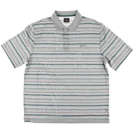 Greg Norman Mens Striped Play Dry Polo -