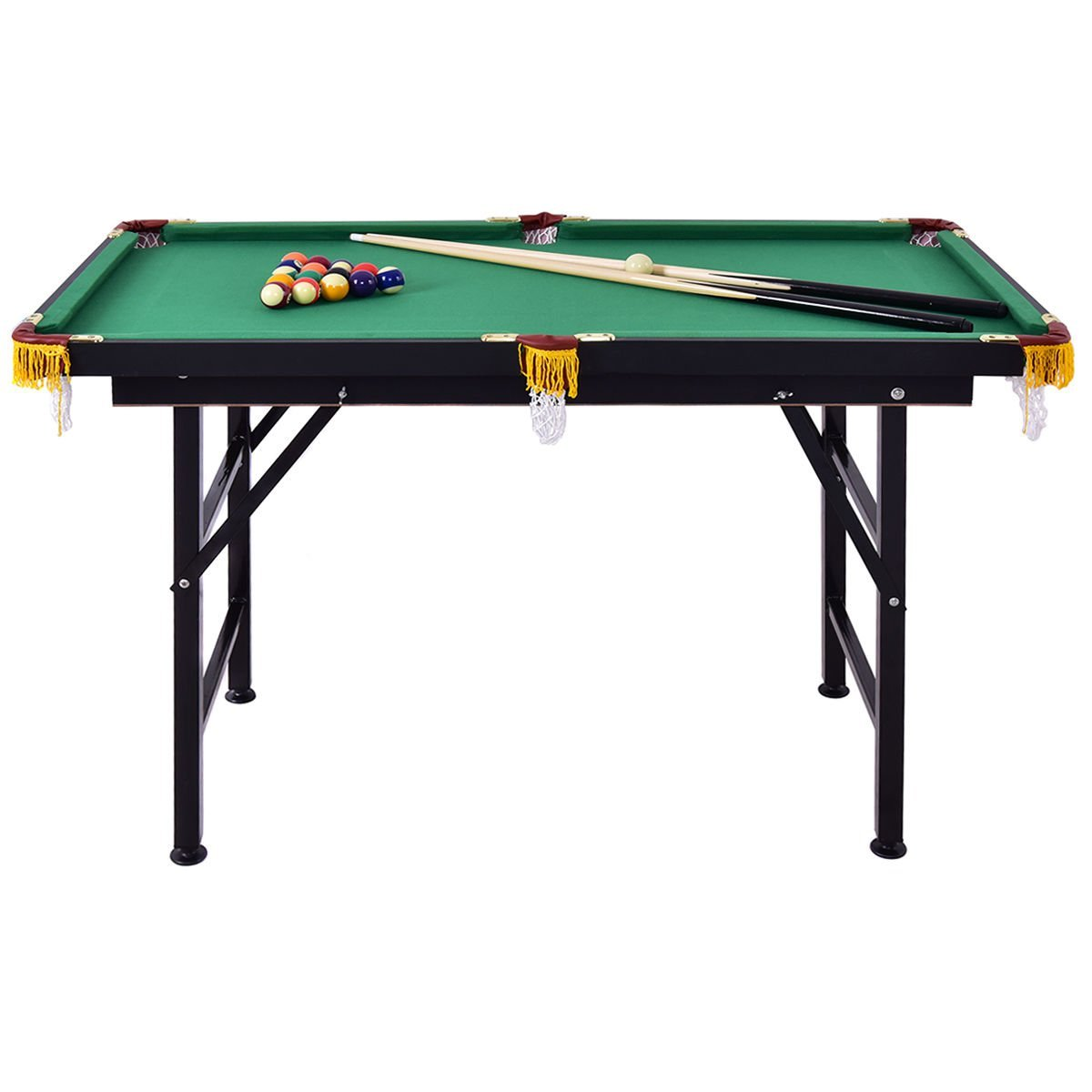 Mini Foldable Pool Table Portable Billiard Table With Cues Balls Best Children Boy Girls Kids Sports Game Toy by HZR