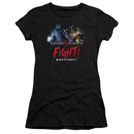 Mortal Kombat Girls (Mortal Kombat X - Fight - Juniors Teen Girls Cap Sleeve Shirt -)