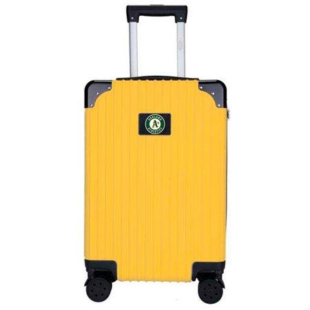 Oakland Athletics Premium 21'' Carry-On Hardcase Luggage - Yellow
