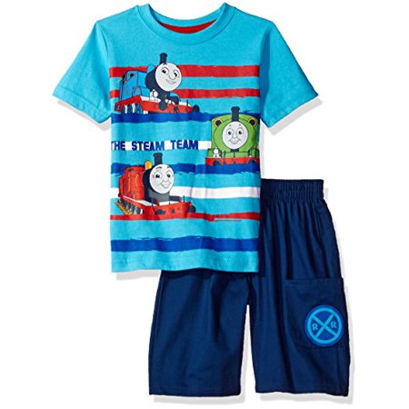 Thomas & Friends Toddler Boys' 2 Piece Thomas Tee and Twill Short Set, Blue, 3t (3t 3 Boys Clothes)
