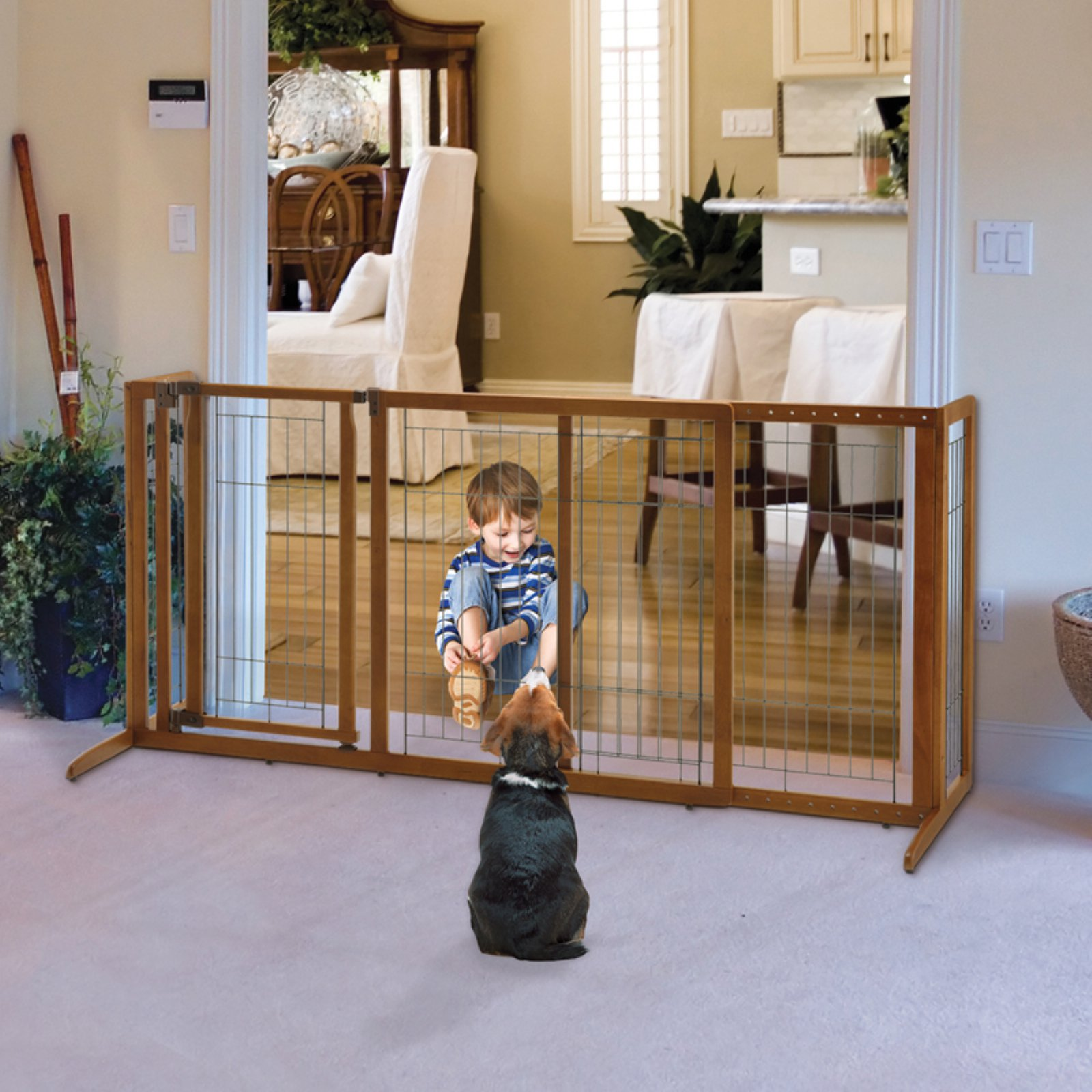 Nice Richell Deluxe Freestanding Pet Gate With Door