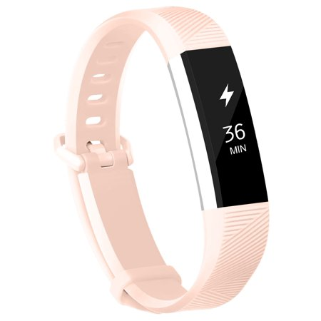 POY For Fitbit Alta Bands Fitbit Alta HR Strap Adjustable Replacement Wrist Bands Soft Silicone Material Strap(Blush Pink,