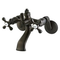 Kingston Brass CC2665 Vintage Wall Mount Tub Faucet with Riser Adapter, Oil Rubbed Bronze