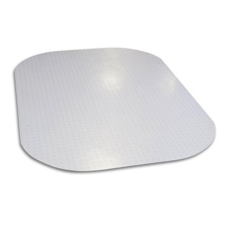 Evolve Modern Shape Clear Rectangle Office Chair Mat 45