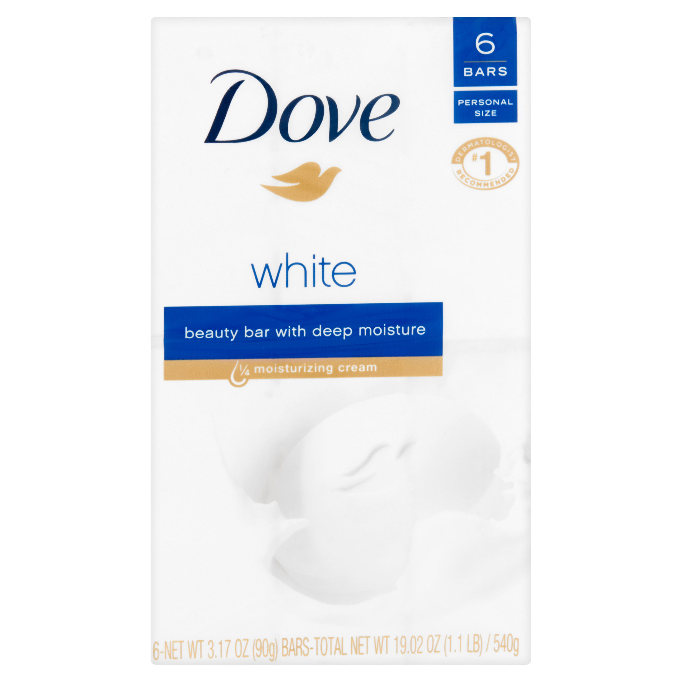 Dove White Beauty Bars, 3.17 oz, 6 count - Walmart.com