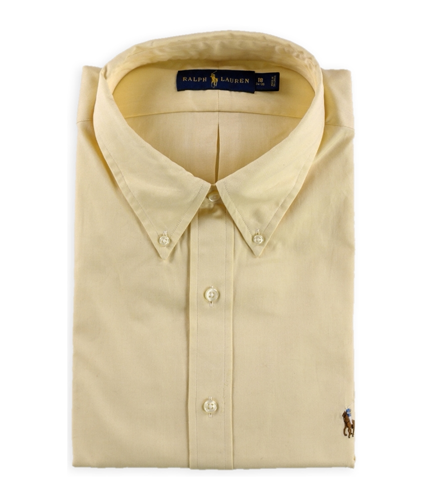 Ralph Lauren Mens Oxford Button Up Dress Shirt