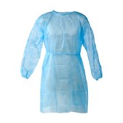 Personal Touch Unisex Universal Size Blue Disposable Gowns, Pack of 10