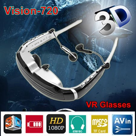 68″ HD Stereo Video Widescreen Digital 3D Glasses Eyewear HDMI Virtual Theater