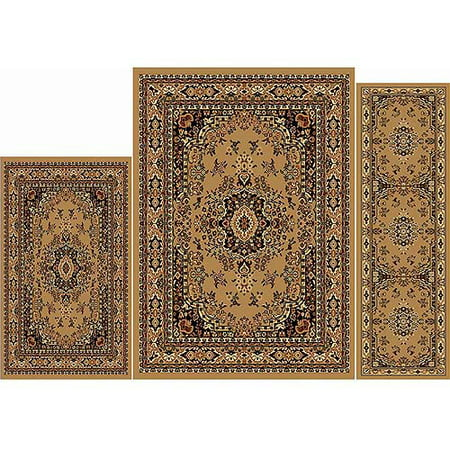 Home Dynamix Ariana Collection Oriental 3 Piece Area Rug