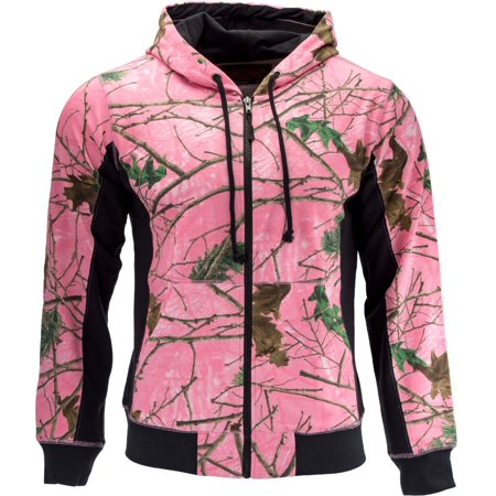 Trail Crest Women's Cambrillo Full Zip Up Hooded Sweatshirt Jacket, Pink (Chestnut Hill Trail Jacket)