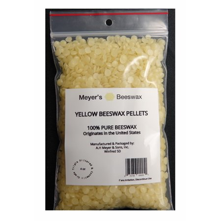 MEYER'S BEESWAX 100% PURE DOMESTIC USA BEESWAX, NOT IMPORTED, Chemical Free Triple Filtered Pellets For All Your Do It Yourself Projects - Halloween Do It Yourself Projects
