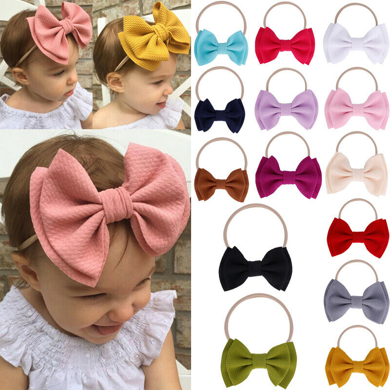 Cute Adorable Children Baby Flower headband Soft Elastic Hair Accessories Band