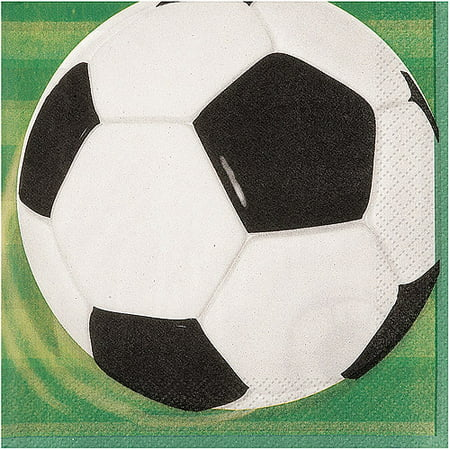 Soccer Party Lunch Napkins, 16ct (Soccer Party Decor)