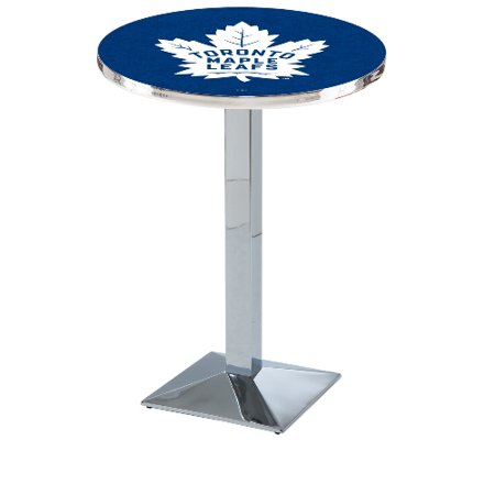 NHL Pub Table by Holland Bar Stool, Chrome Toronto Maple Leafs, 36'' L217 by
