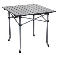 "Ore International 19.75"" Aluminum Folding Roll Slate Dove Gray Kid's Table"