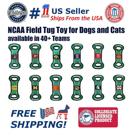 Pets First Collegiate Penn State Nittany Lions Football Field Toy for DOGS & CATS. Heavy-Duty, Durable toys with Squeakers